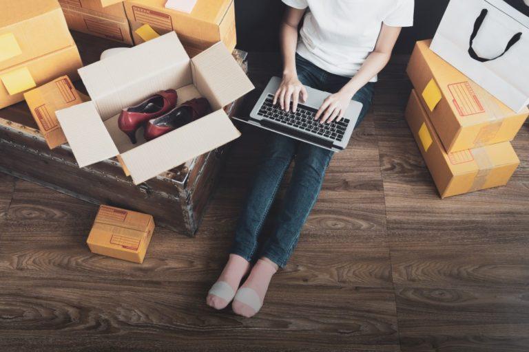 entrepereneur checking orders online