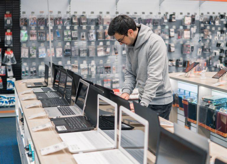 man at a store