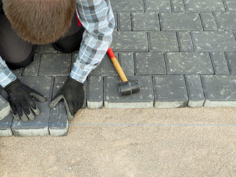 installing pavement